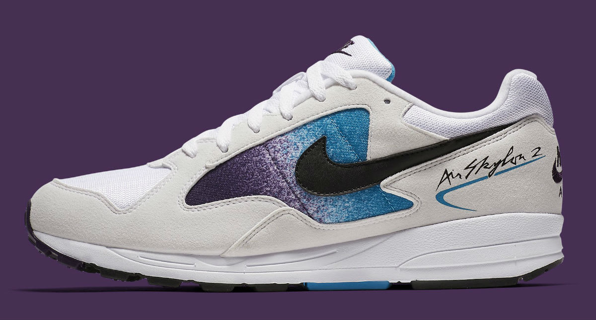 Nike Air Skylon 2 White Black Blue Lagoon Grand Purple Release Date AO1551-100 Profile