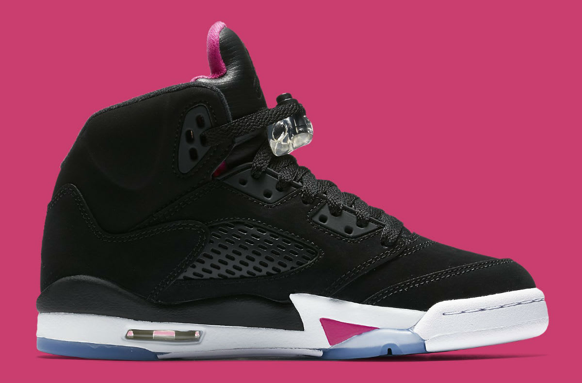 Air Jordan 5 GS Deadly Pink Release Date Medial 440892-029