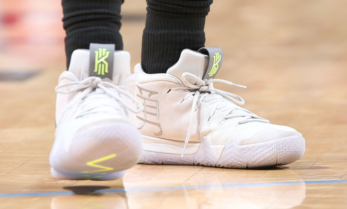 Kyrie Irving Nike Kyrie 4 White On-Foot