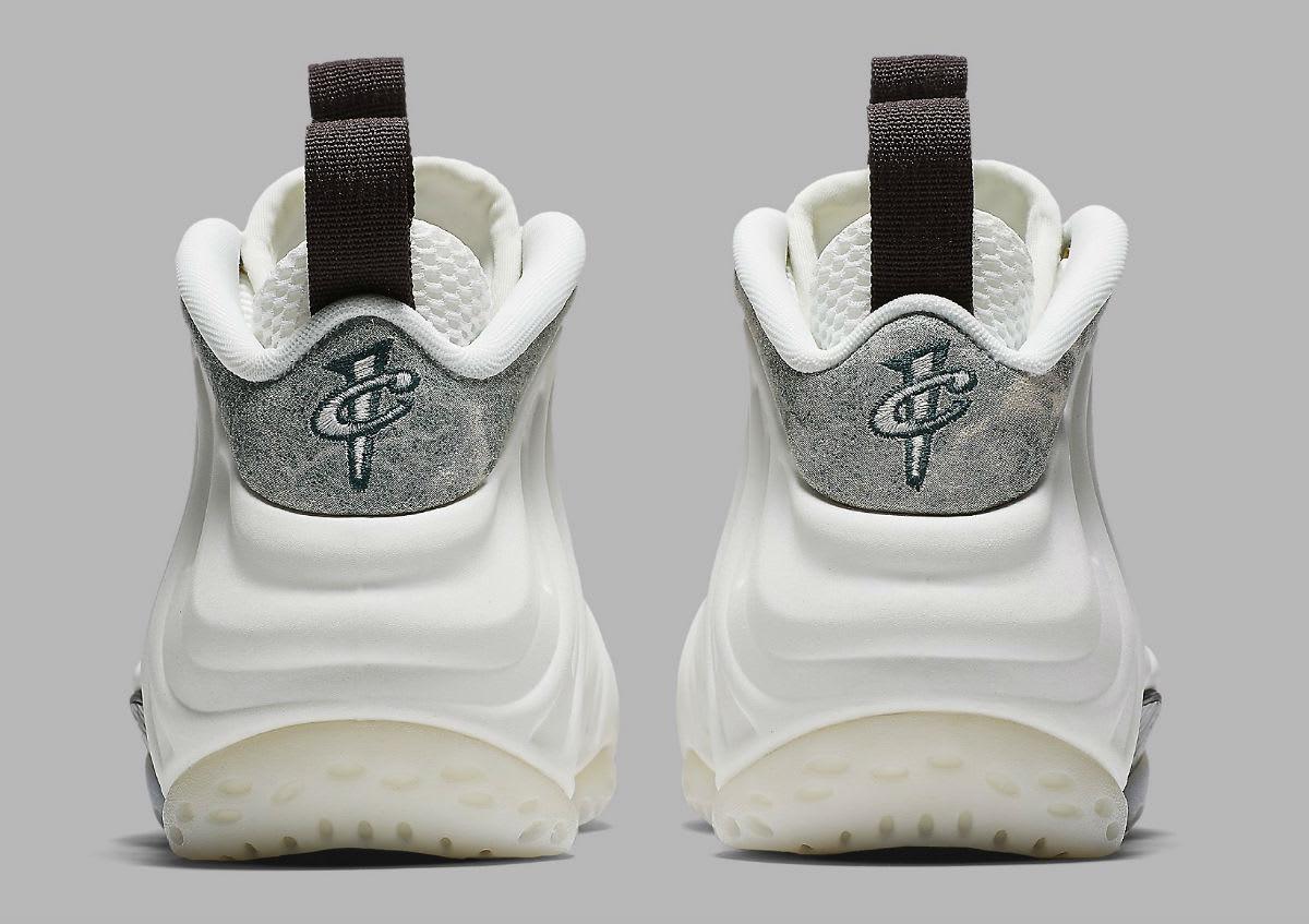 c18873ea69b Image via Nike Nike Air Foamposite One Women s Summit White Oil Grey  Rainforest Release Date AA3963-101 Heel