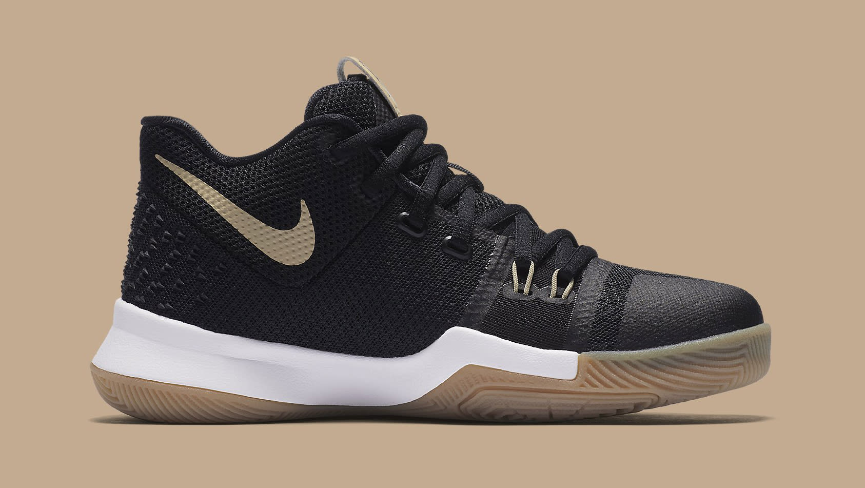 3bcc6521532e ... Image via Nike Nike Kyrie 3 No Diving 859466-092 Medial Nike Kyrie 3  Badge of Honor Black and Gum Light Brown-Linen ...