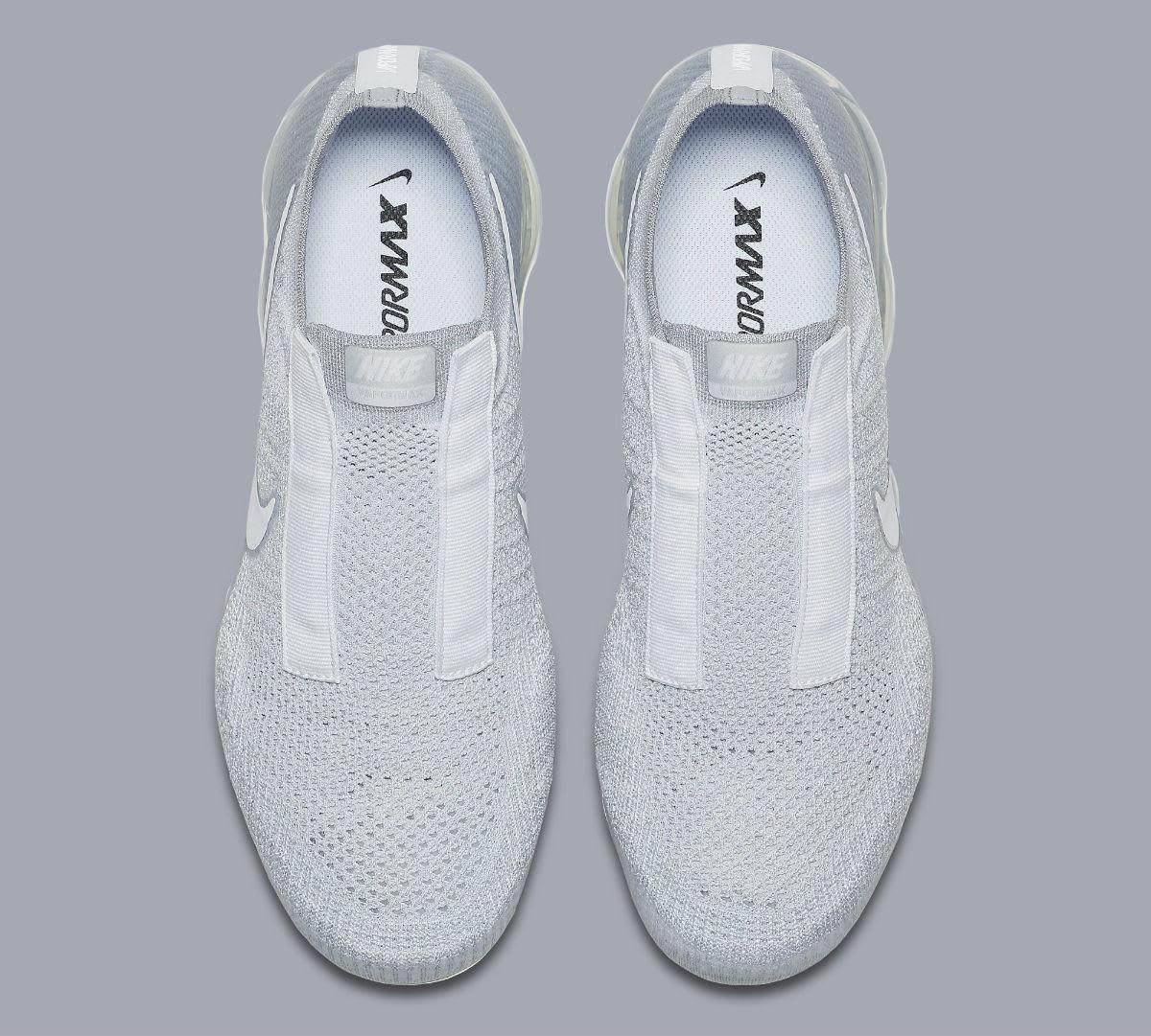 Nike Air VaporMax Laceless Pure Platinum Release Date Top AQ0581-002