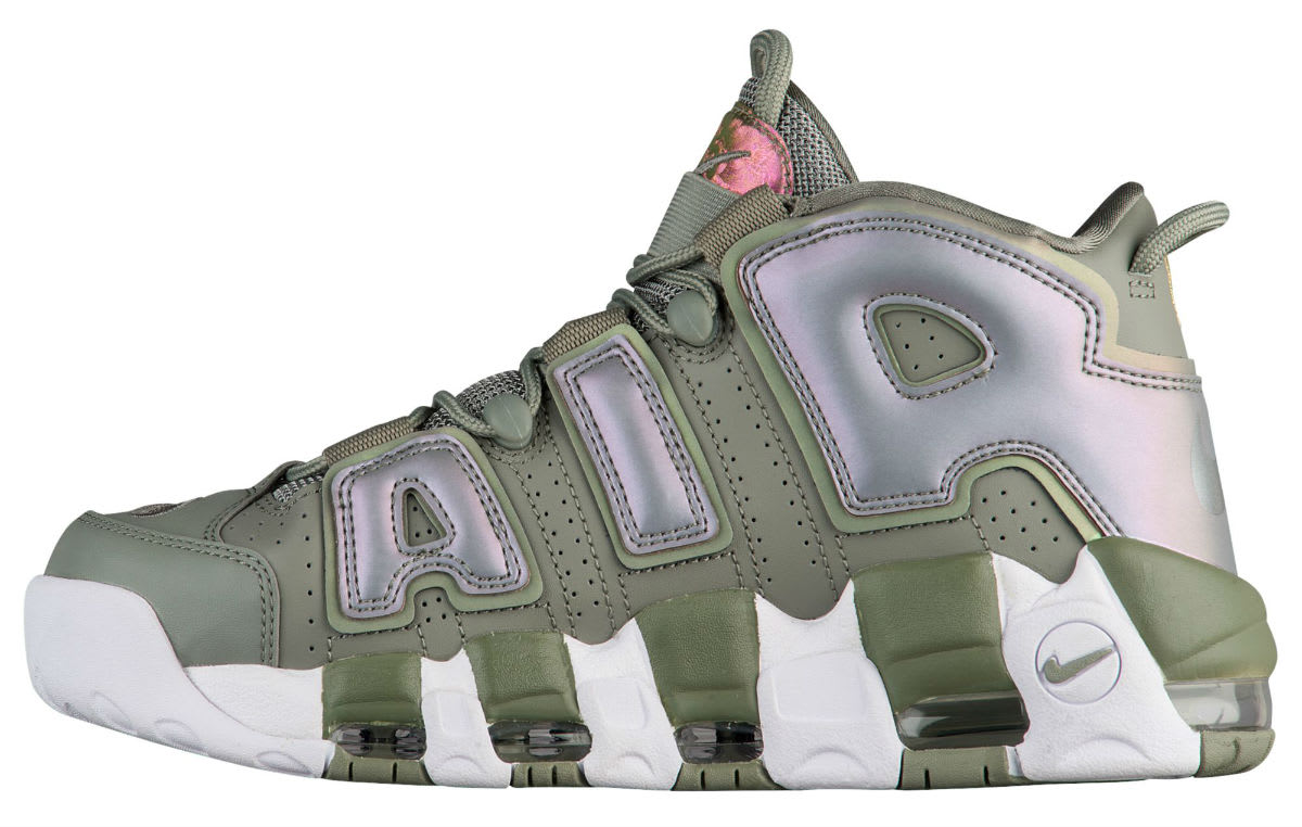 Nike Air More Uptempo Women's Dark Stucco Release Date Medial 917593-001