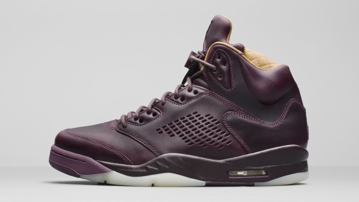 Air Jordan 5 Premium Bordeaux Release Date Left Profile 881432-612