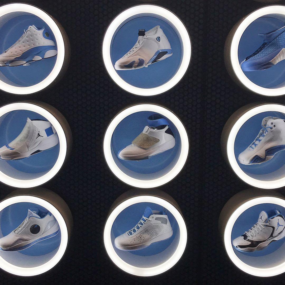 UNC Air Jordan Wall (3)