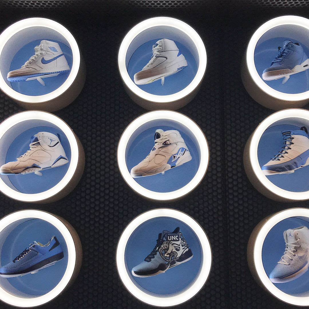 UNC Air Jordan Wall (1)