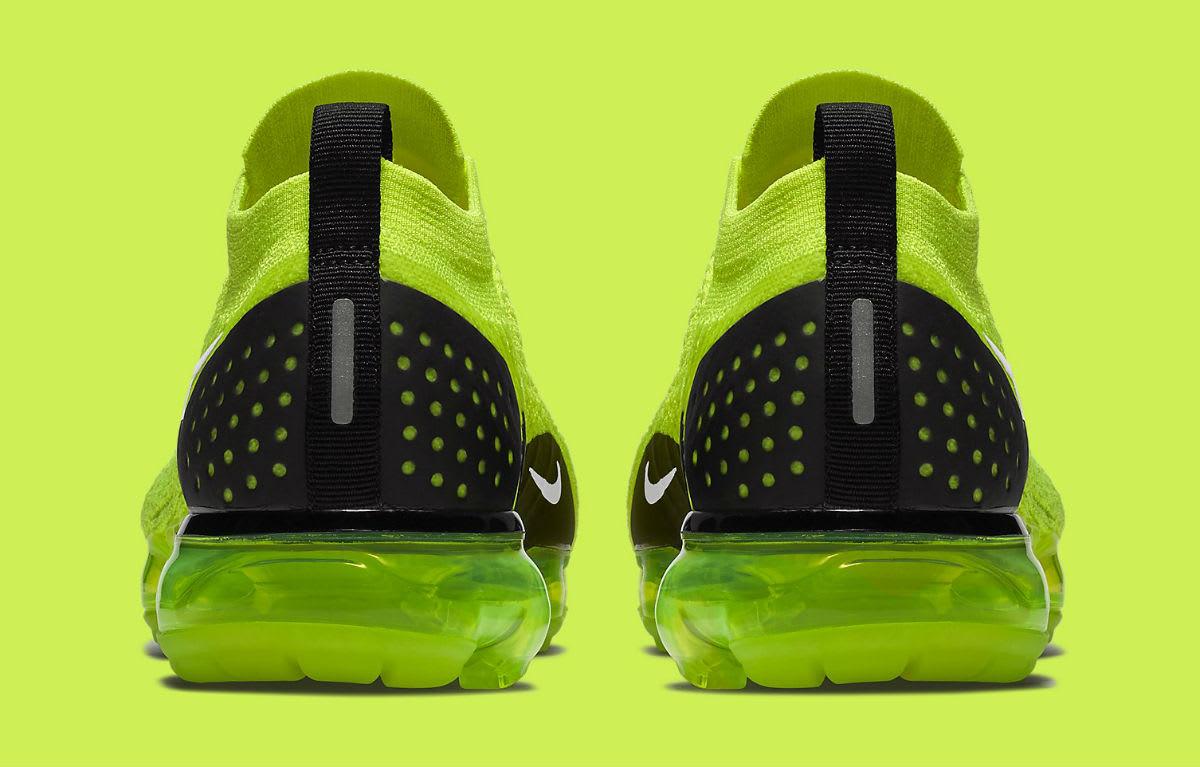 Nike Air VaporMax Flyknit 2 Volt Release Date 942842-700 Heel
