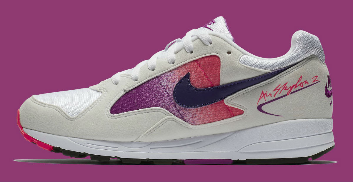 Nike Air Skylon 2 White Court Purple Solar Red Release Date AO1551-103 Profile