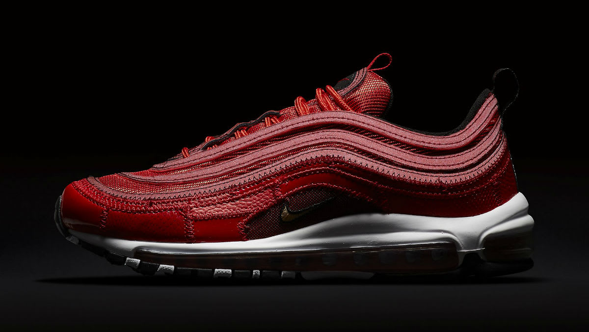 Nike Air Max 97 Patchwork CR7 Ronaldo Red Release Date AQ0655-600 Dark Profile