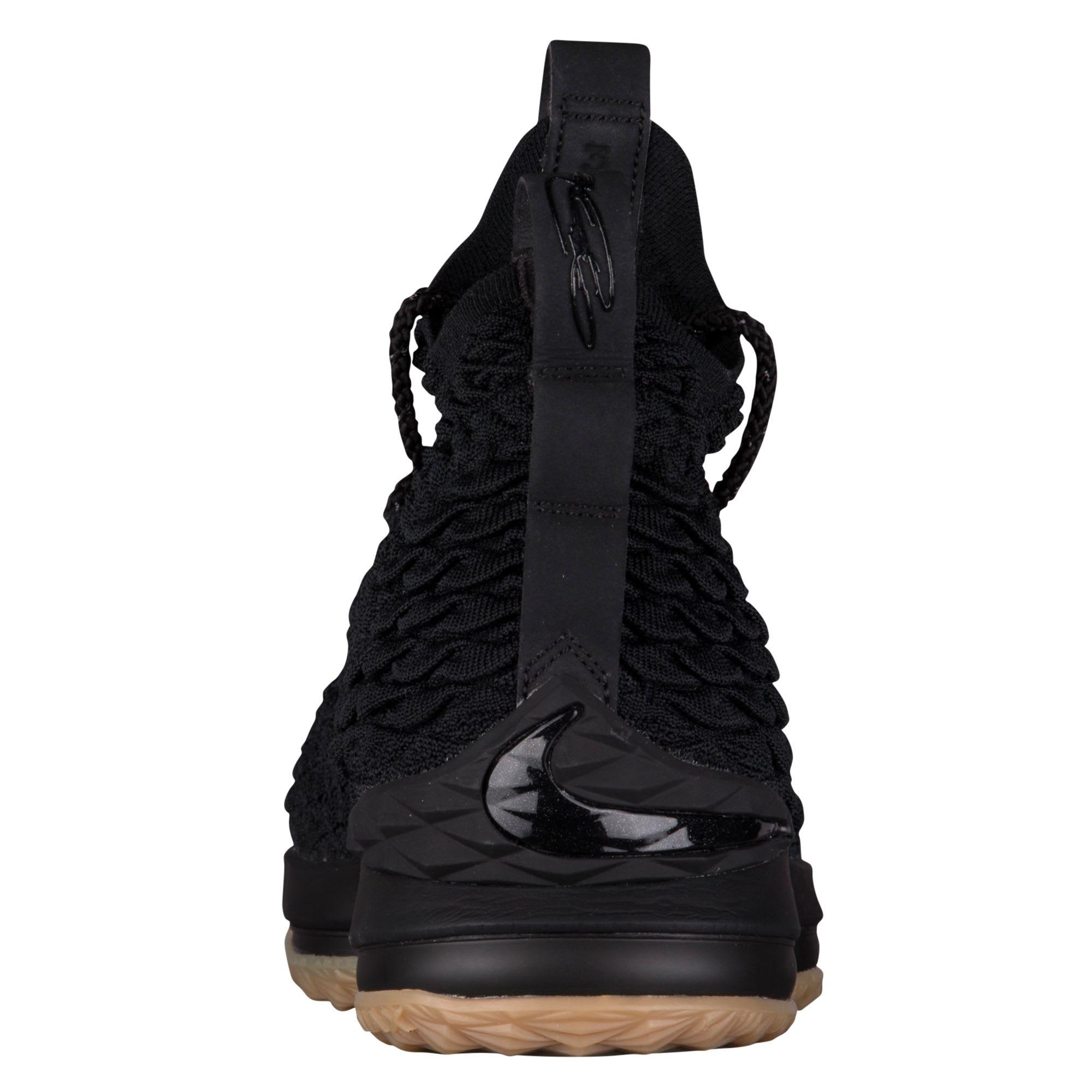 709005fefe7f Nike LeBron 15 Black Gum Release Date 897648-300 Heel
