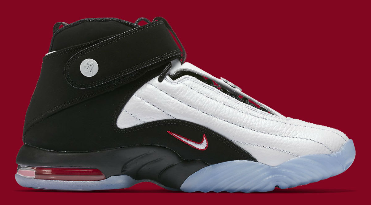 4023296490dd ... Nike Air Penny 4 White Black True Red Release Date Medial 864018-101 ...
