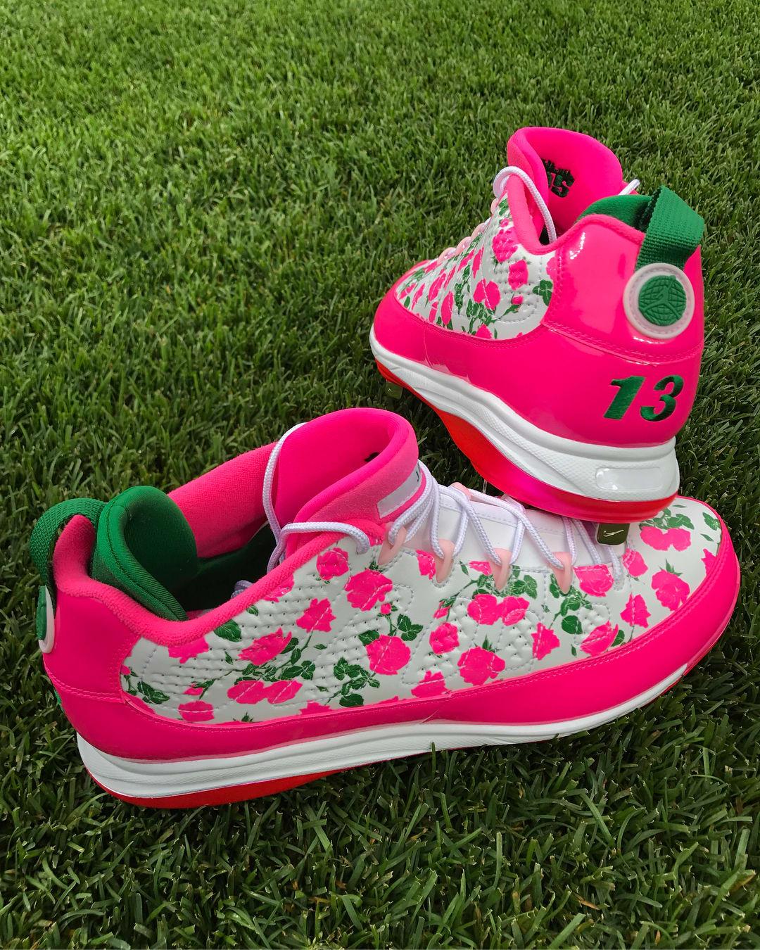 Air Jordan 9 Low Mother's Day Manny Machado PE Heel