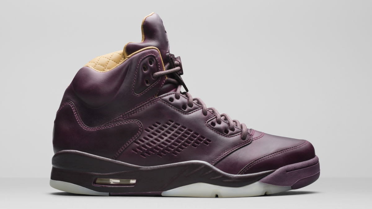 Air Jordan 5 Premium Bordeaux Release Date Right Profile 881432-612