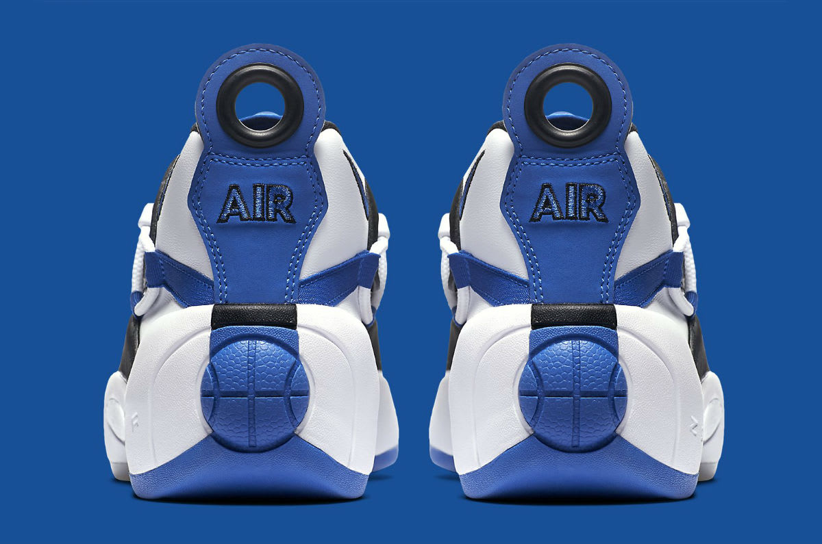 low cost b2735 247d6 Image via Nike Nike Air Swoopes 2 II White Blue Release Date 917592-101 Heel