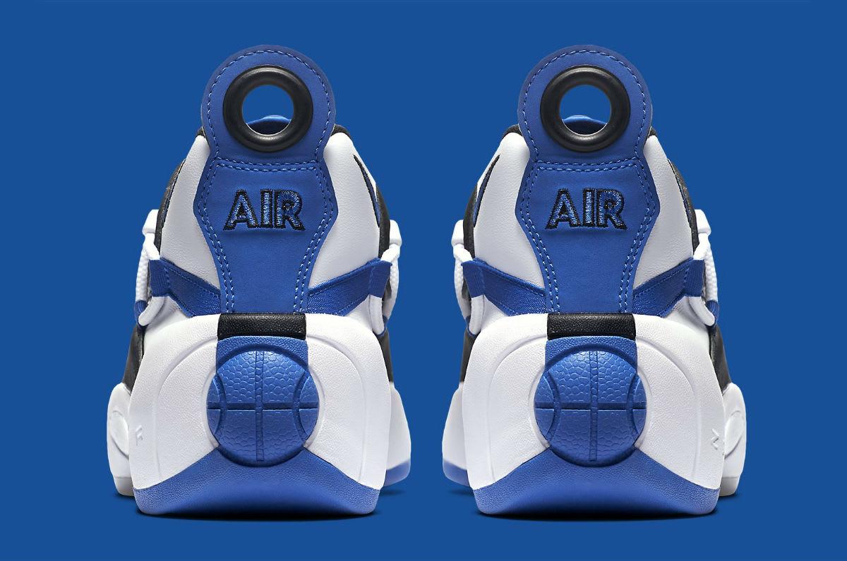 Nike Air Swoopes 2 II White Blue Release Date 917592-101 Heel