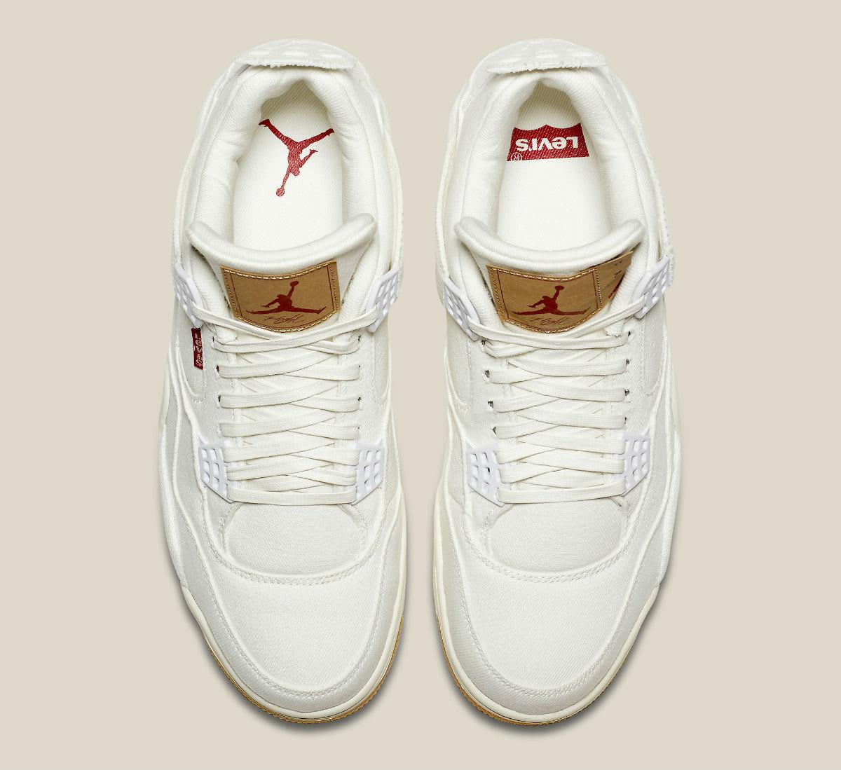 Levi's x Air Jordan 4 White Demin Release Date AO2571-100 Top