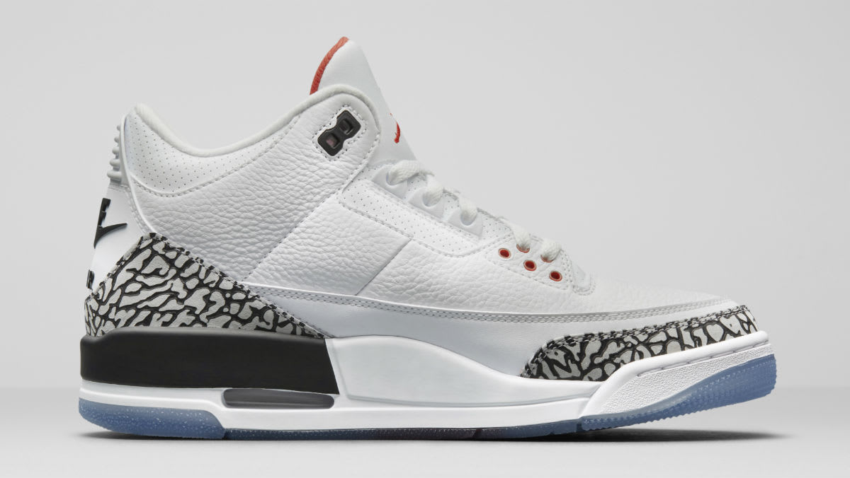 Air Jordan 3 III Clear Sole Release Date 923096-101 Medial