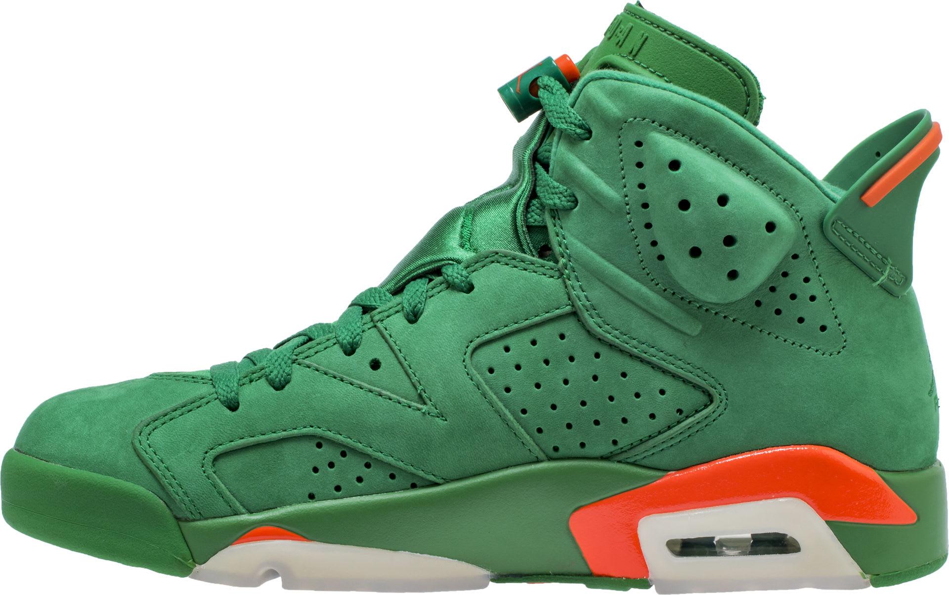 Air Jordan 6 VI Gatorade Green Release Date AJ5986-335 Medial