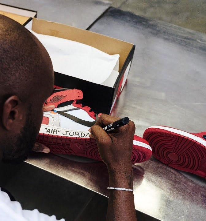 Virgil Abloh Signs Off-White x Air Jordan 1 for Michael Jordan