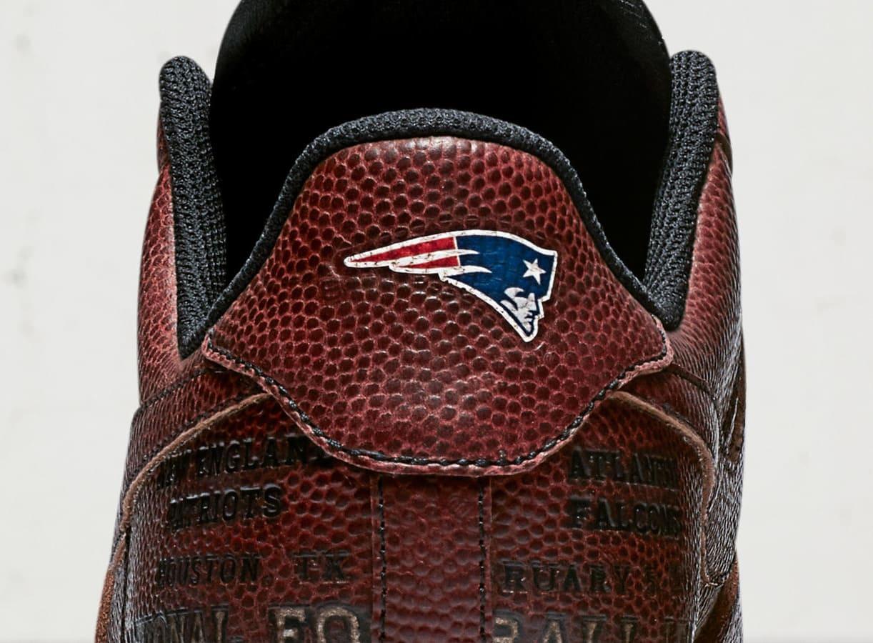 Patriots Nike Air Force 1 Super Bowl 51 Heel