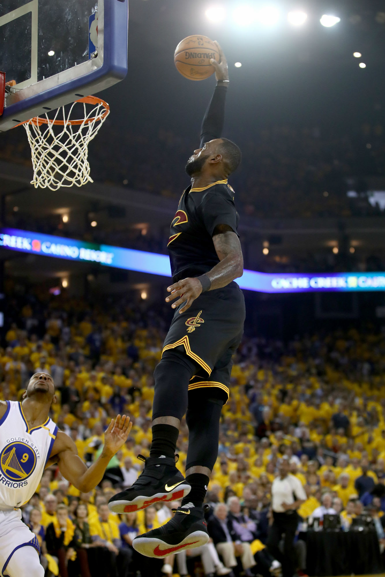 size 40 8dde2 66828 LeBron James Debuts Nike LeBron Soldier 11 Black Gold Finals PE in Game 2    Sole Collector
