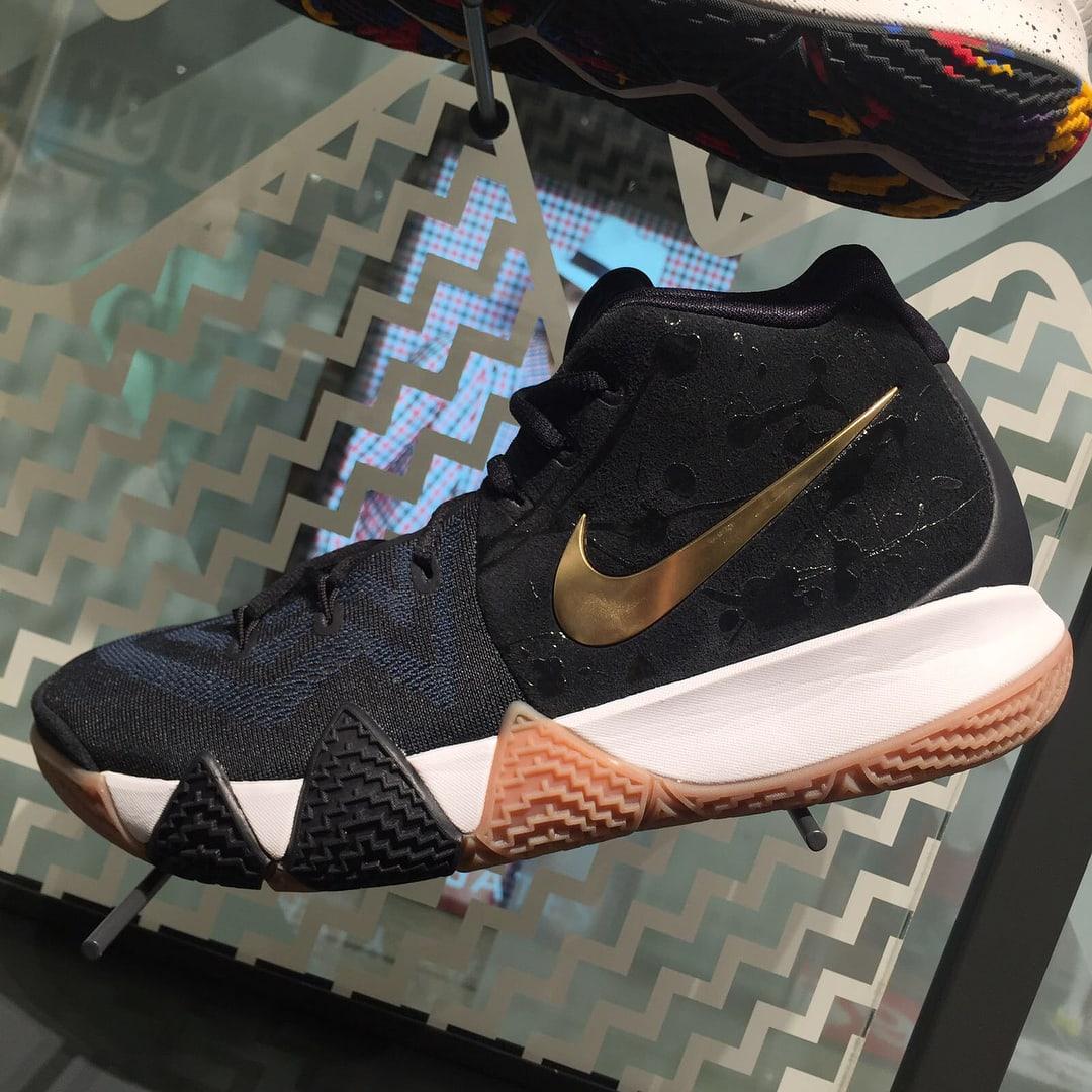Nike Kyrie 4 Black Gold Gum Profile