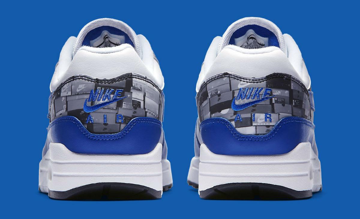 Atmos x Nike Air Max 1 We Love Nike Royal Release Date AQ0927-100 Heel
