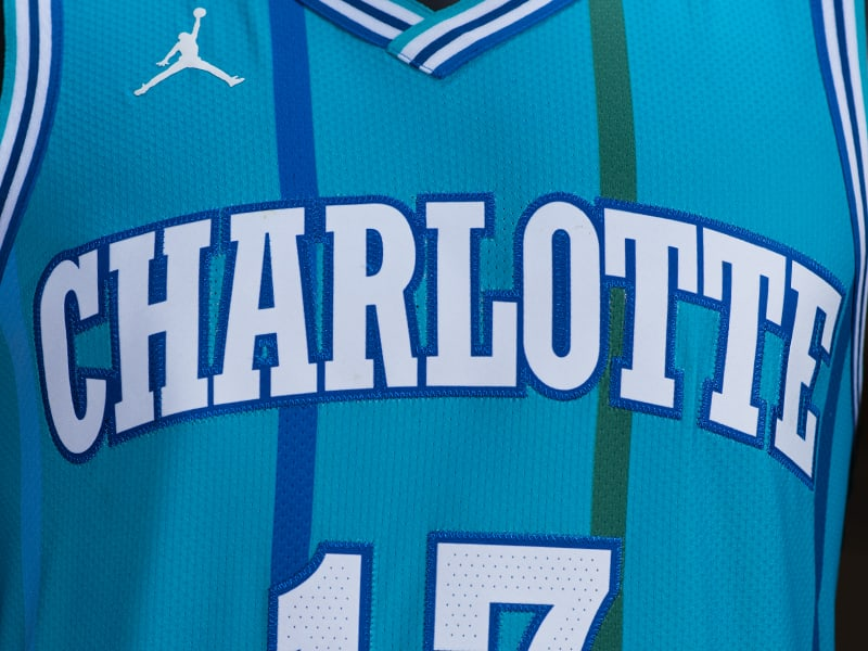 Charlotte Hornets Nike Classic Edition Throwback Jersey 5