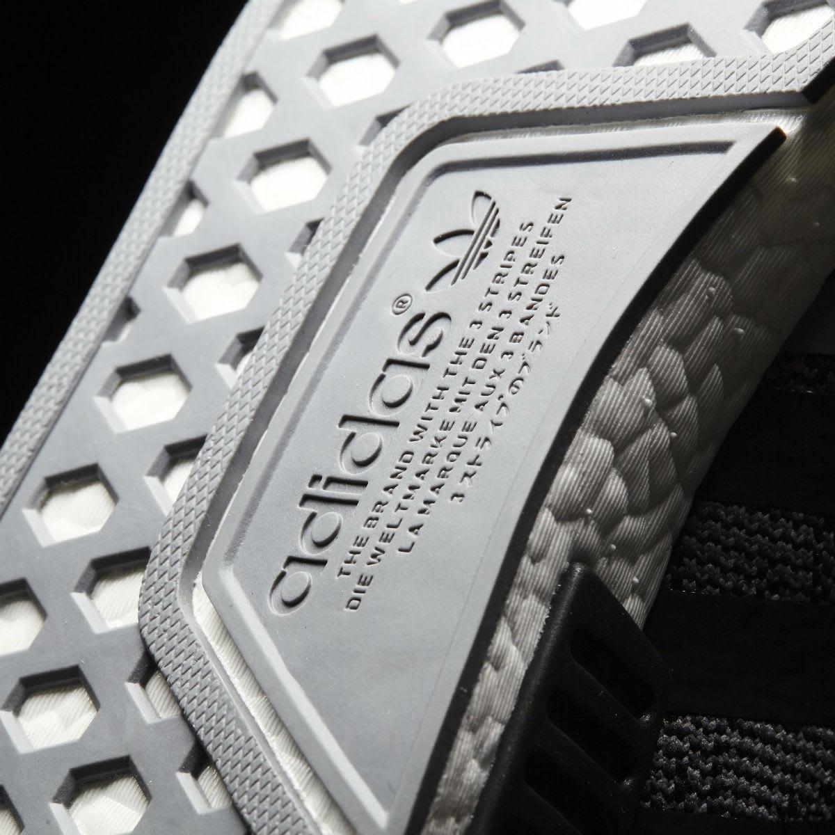 Adidas NMD R1 Primeknit Core Black White Outsole CQ1863