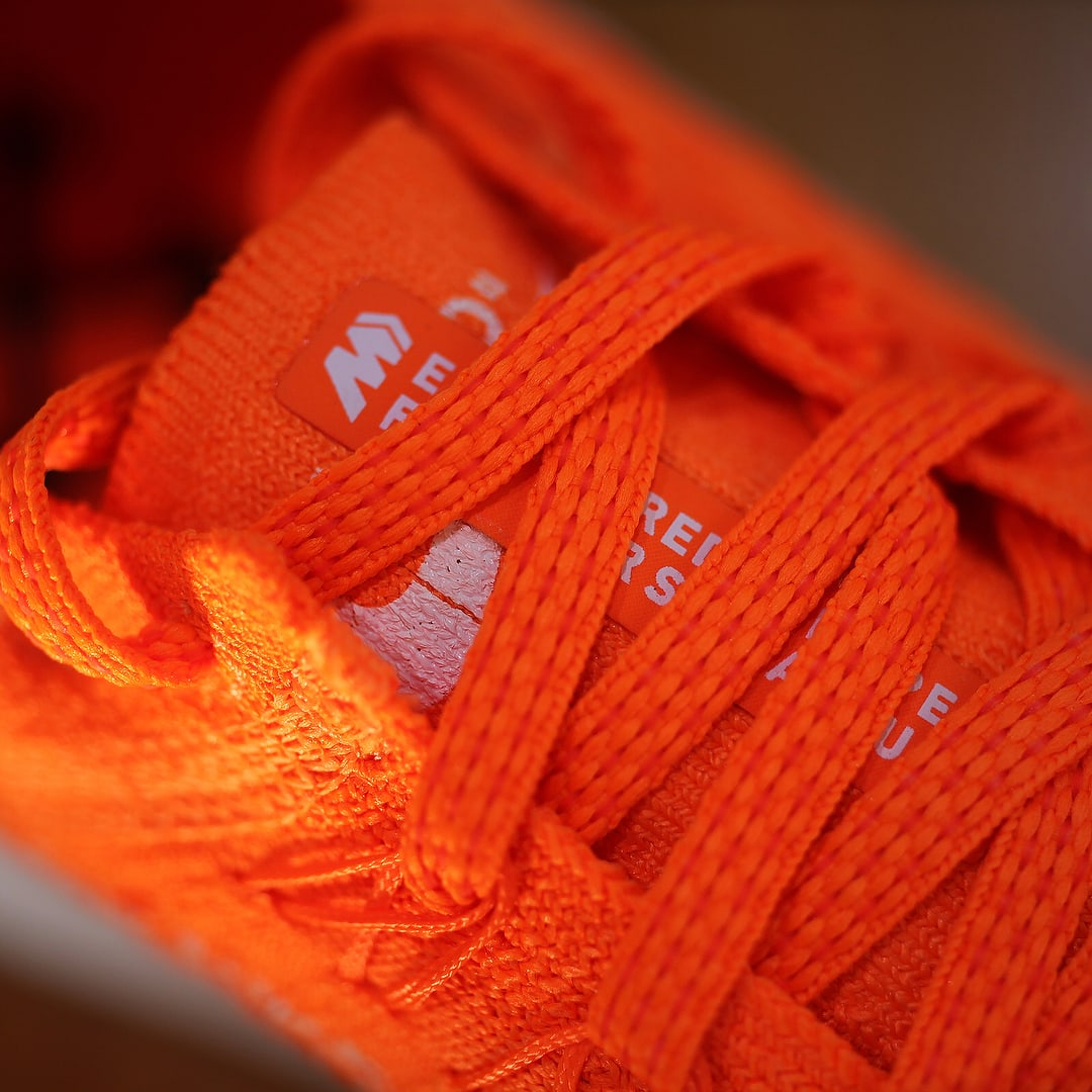 Off-White x Nike Zoom Fly Mercurial Flyknit Total Orange Release Date AO2115-800 Tongue
