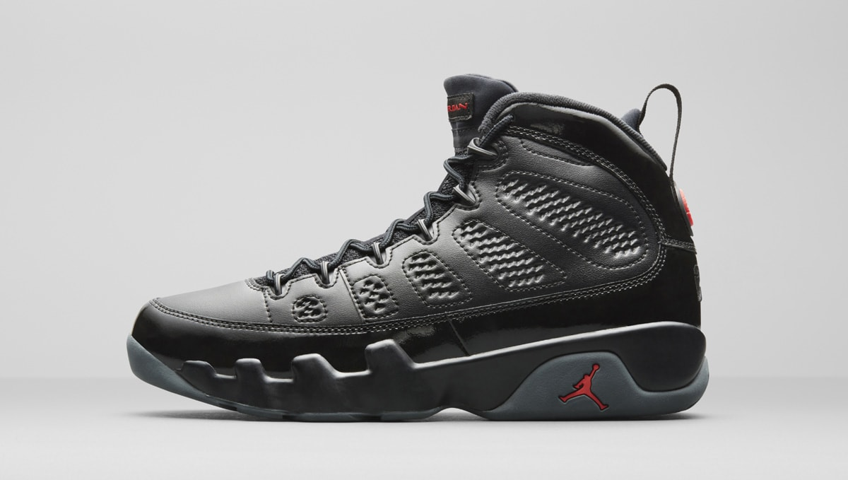7b7fa8cfbdadaf Air Jordan 9 Retro Black Red Patent 792454