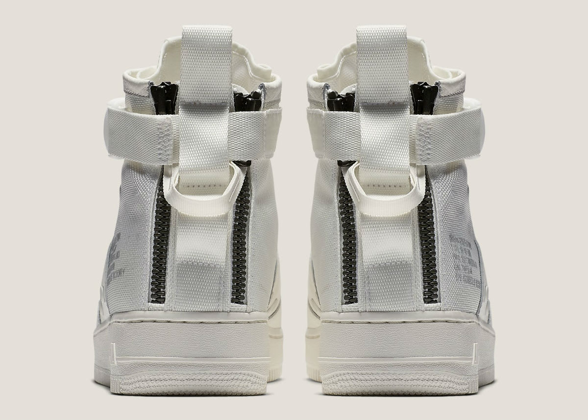 Nike Special Field Air Force 1 Mid Ivory Release Date Heel AA6655-100