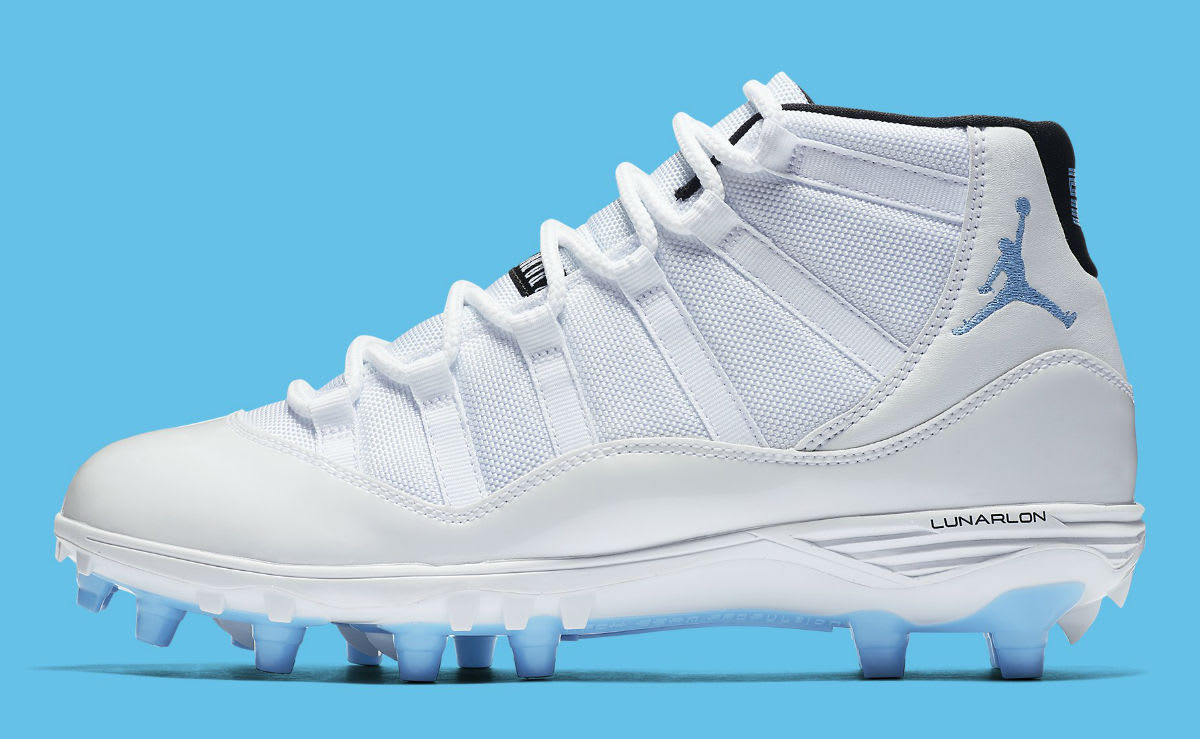 Air Jordan 11 XI Cleats Columbia Release Date AO1561-117 Profile