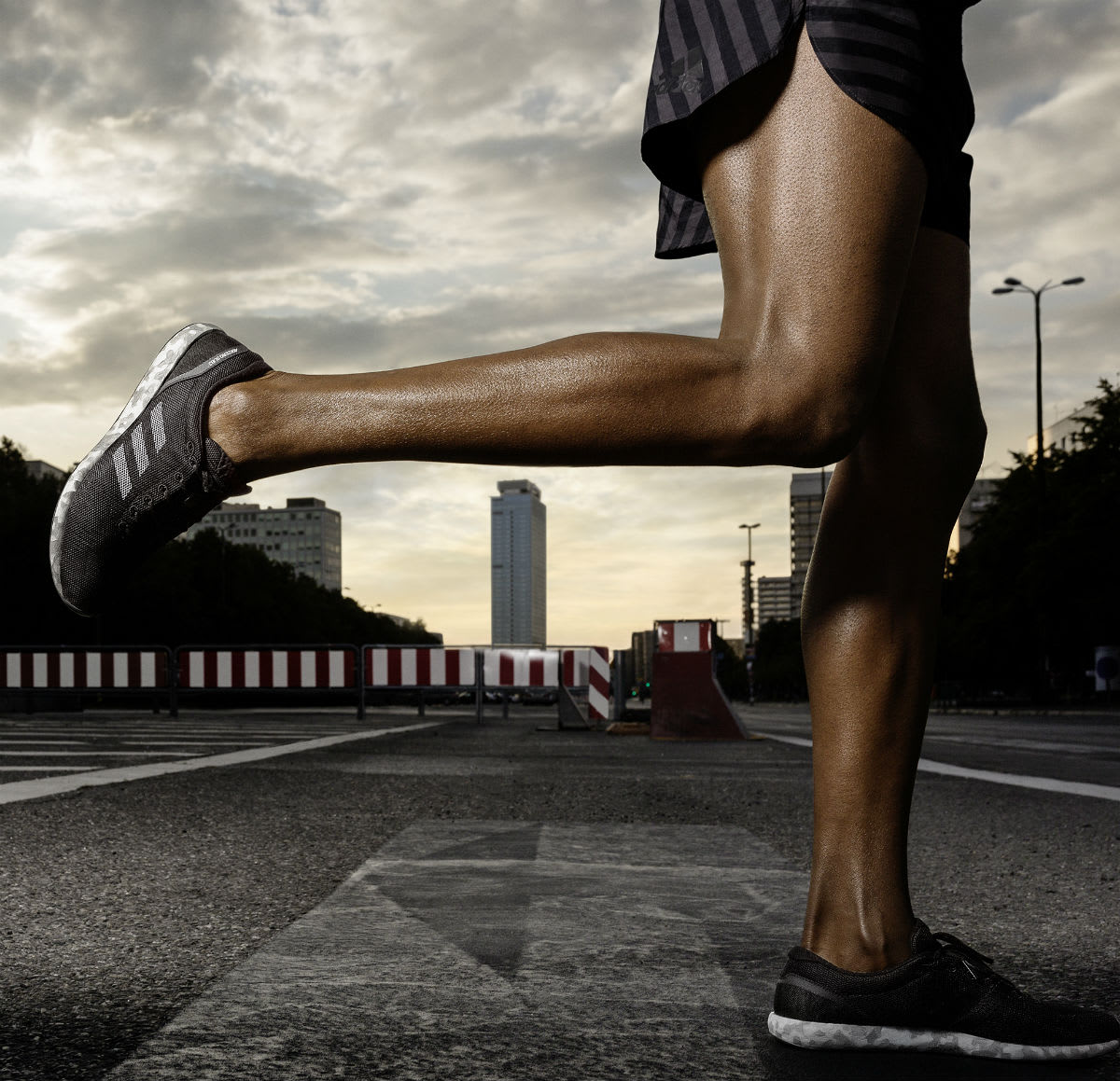 Adidas AdiZero Sub2 Running Shoes On-Foot