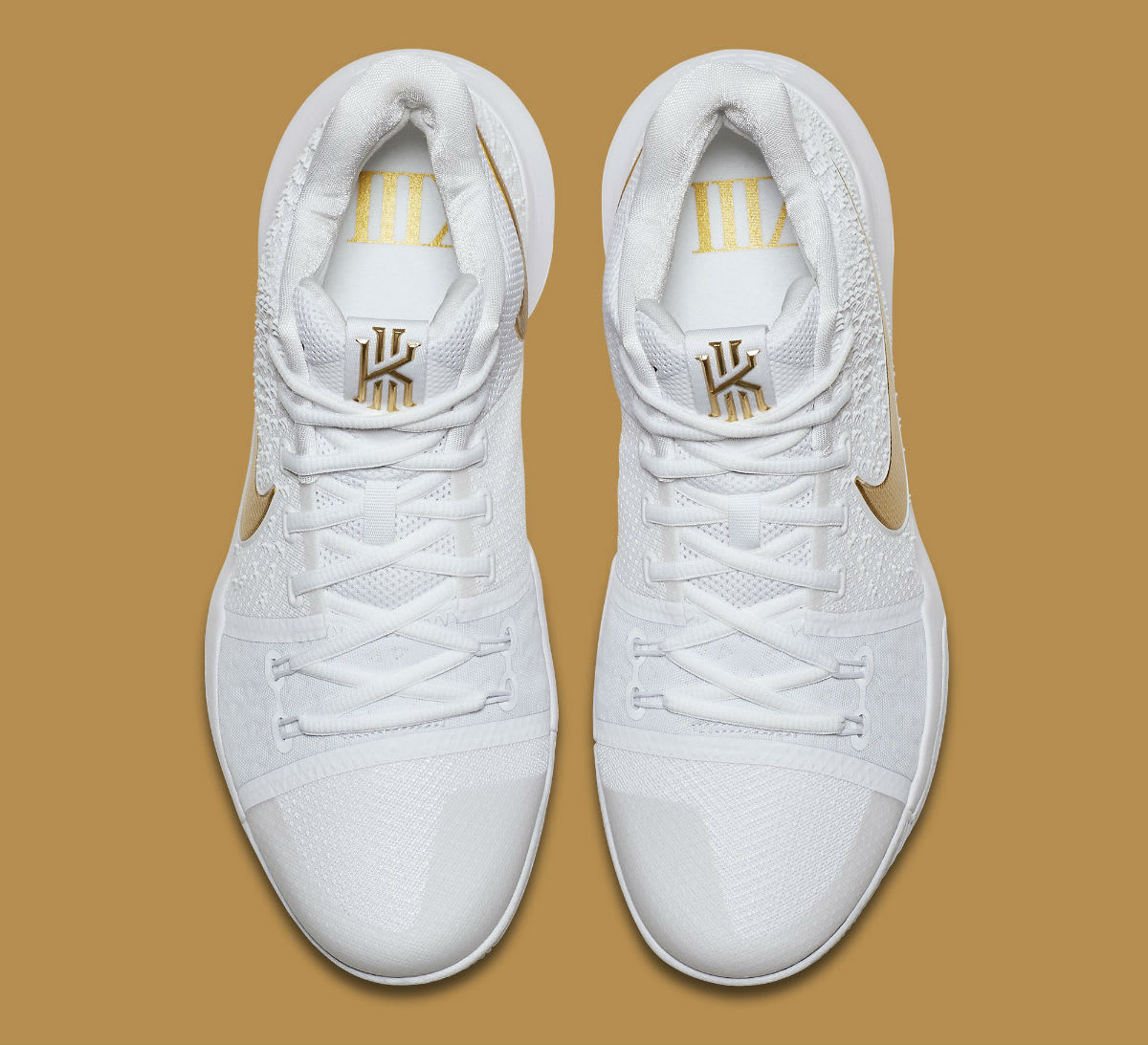 Nike Kyrie 3 White/Gold Release Date Top 852396-902