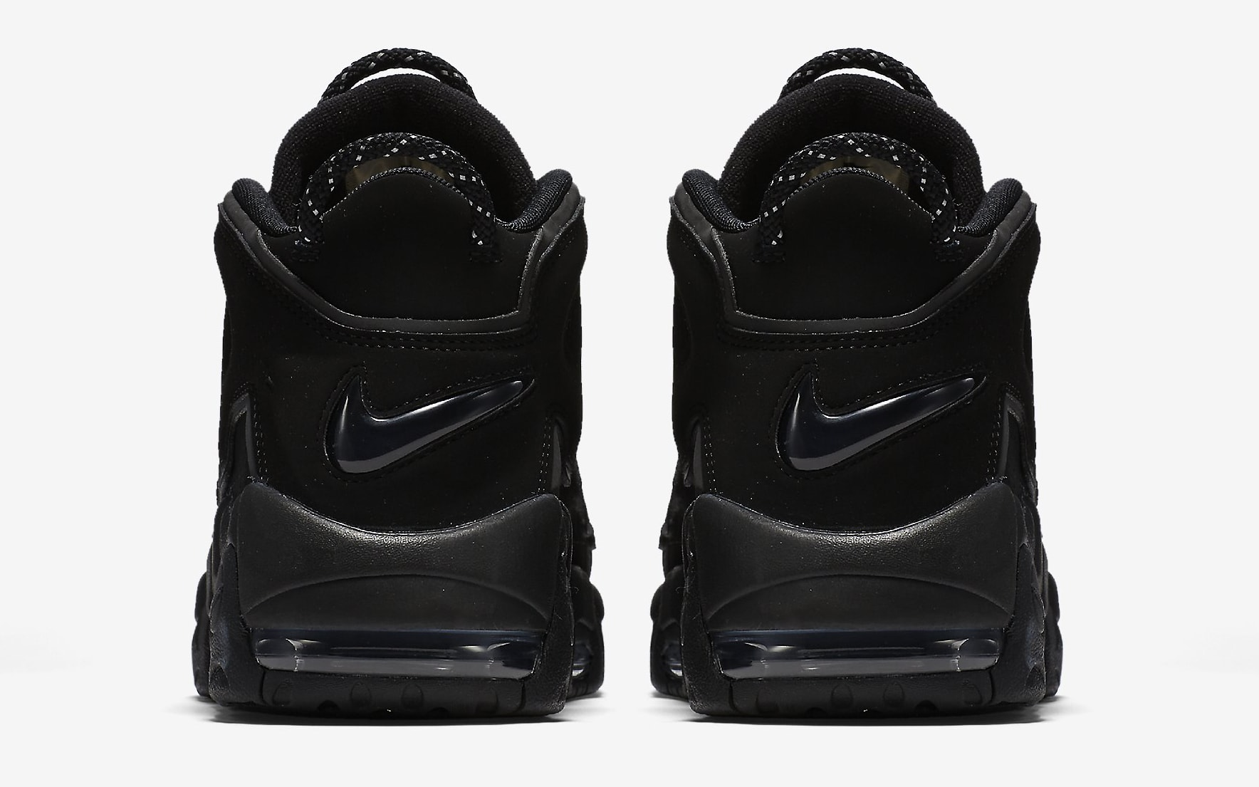 Nike Air More Uptempo Black Reflective 414962-004 Heel