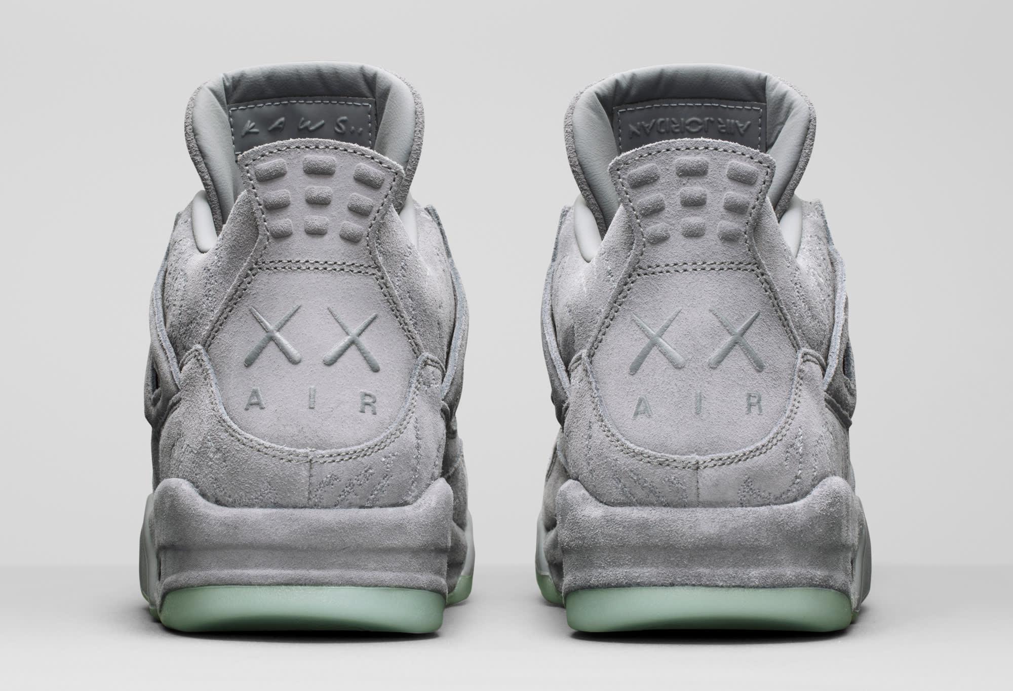 Air Jordan 4 Kaws Heel