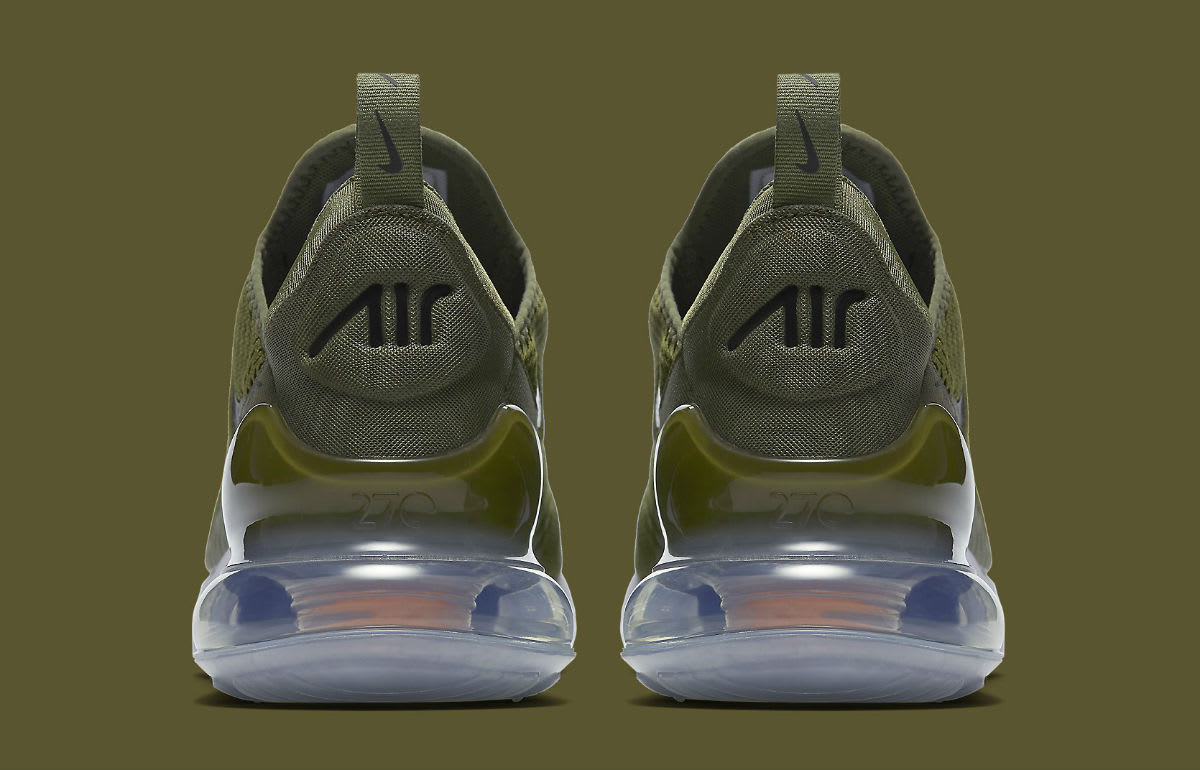 Nike Air Max 270 Olive Release Date AH8050-201 Heel