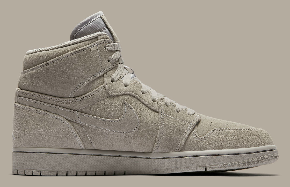 Nike 1 Air Jordan 1 Nike Retro Wolf Gris Suede Leather Hombre Trainers 332550-031 1fed10