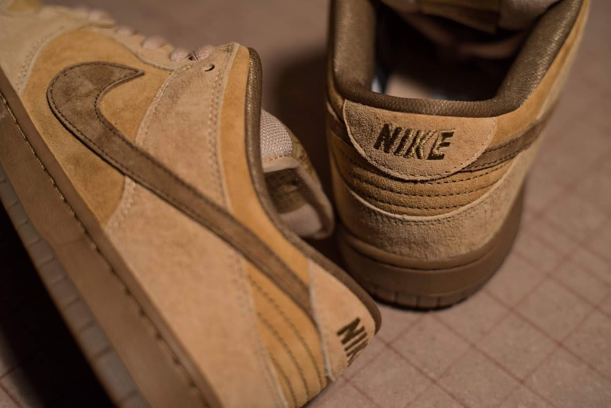 Wheat Nike SB Dunk Low Reese Forbes 2017 Heel