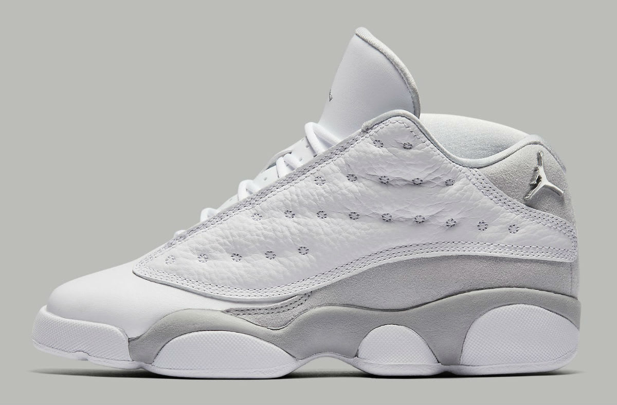 Air Jordan 13 Low Pure Platinum Gradeschool 310811-100