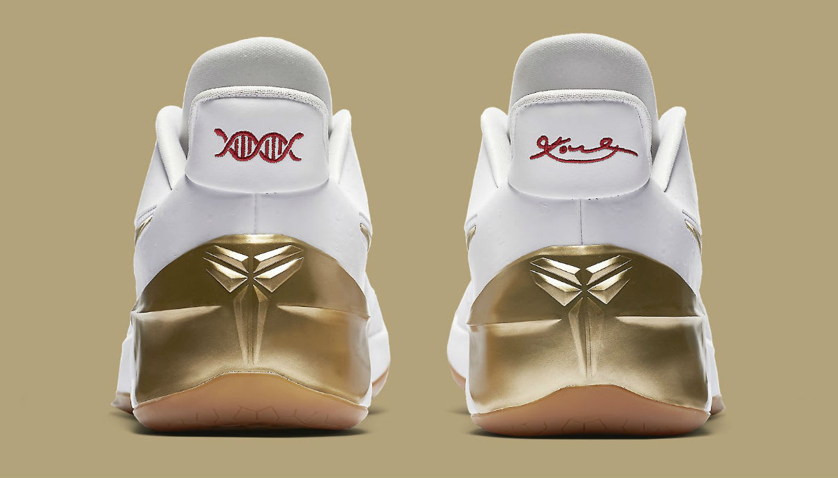Nike LeBron Soldier 11 White Metallic Gold Black Release Date Heel 852425-107