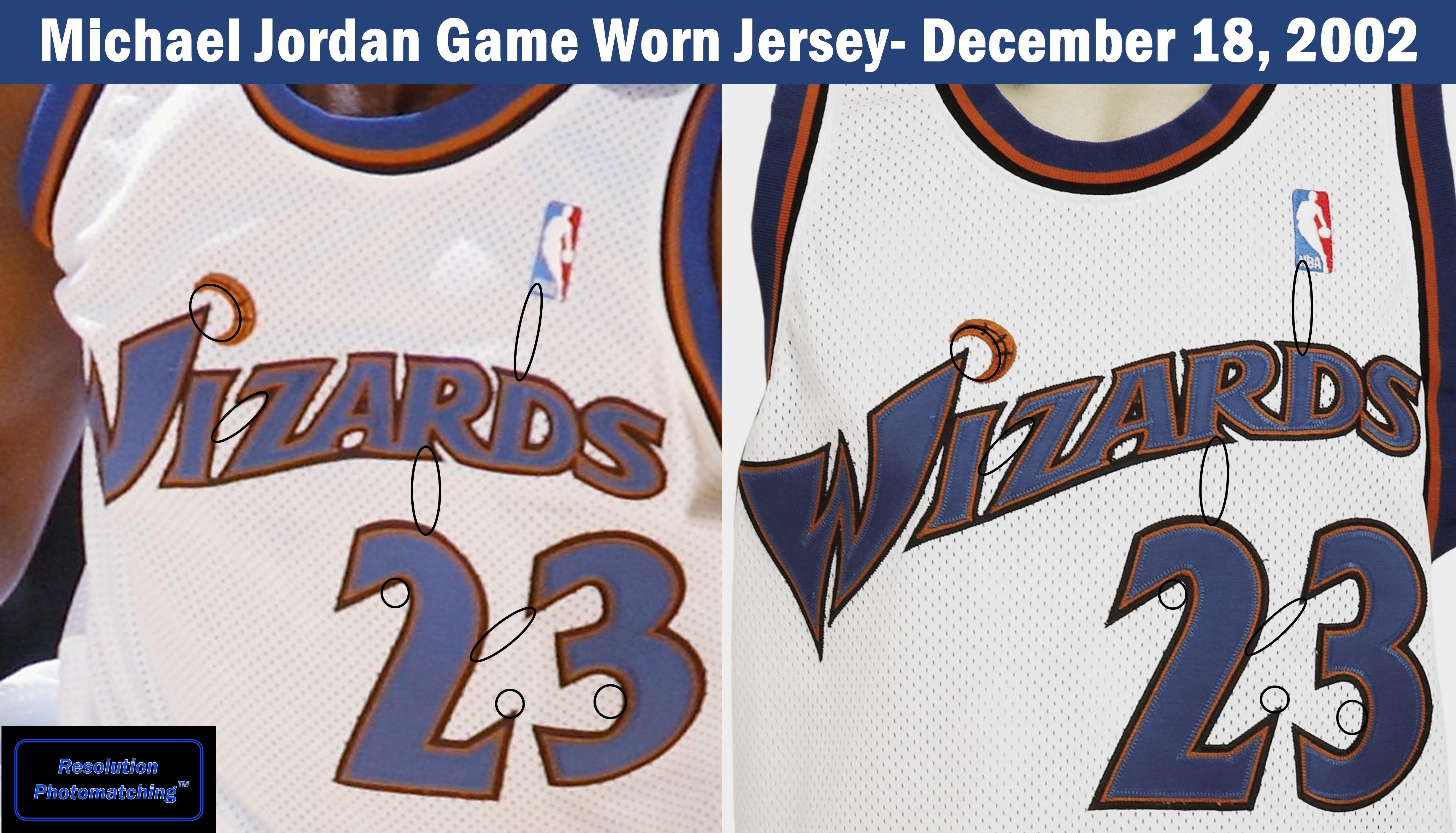Michael Jordan Washington Wizards Jersey Comparison