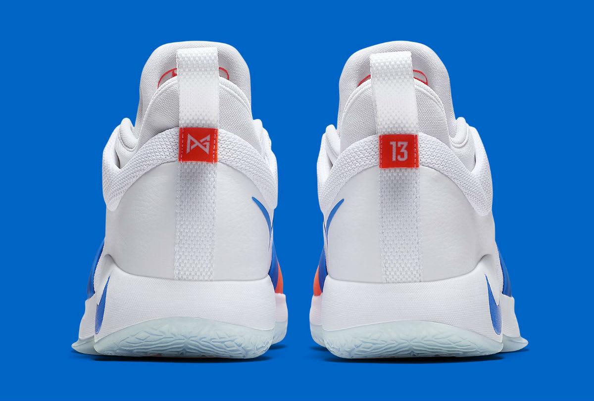 Nike PG2 OKC Home Release Date AJ2039-100 Heel