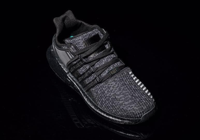 Triple Black Adidas EQT Support 93/17 Boost