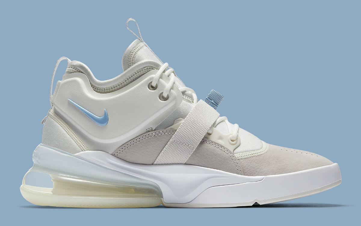56d5d6f7775 ... Nike Air Force 270 Wolf Grey White Release Date AH6772-003 Medial ...