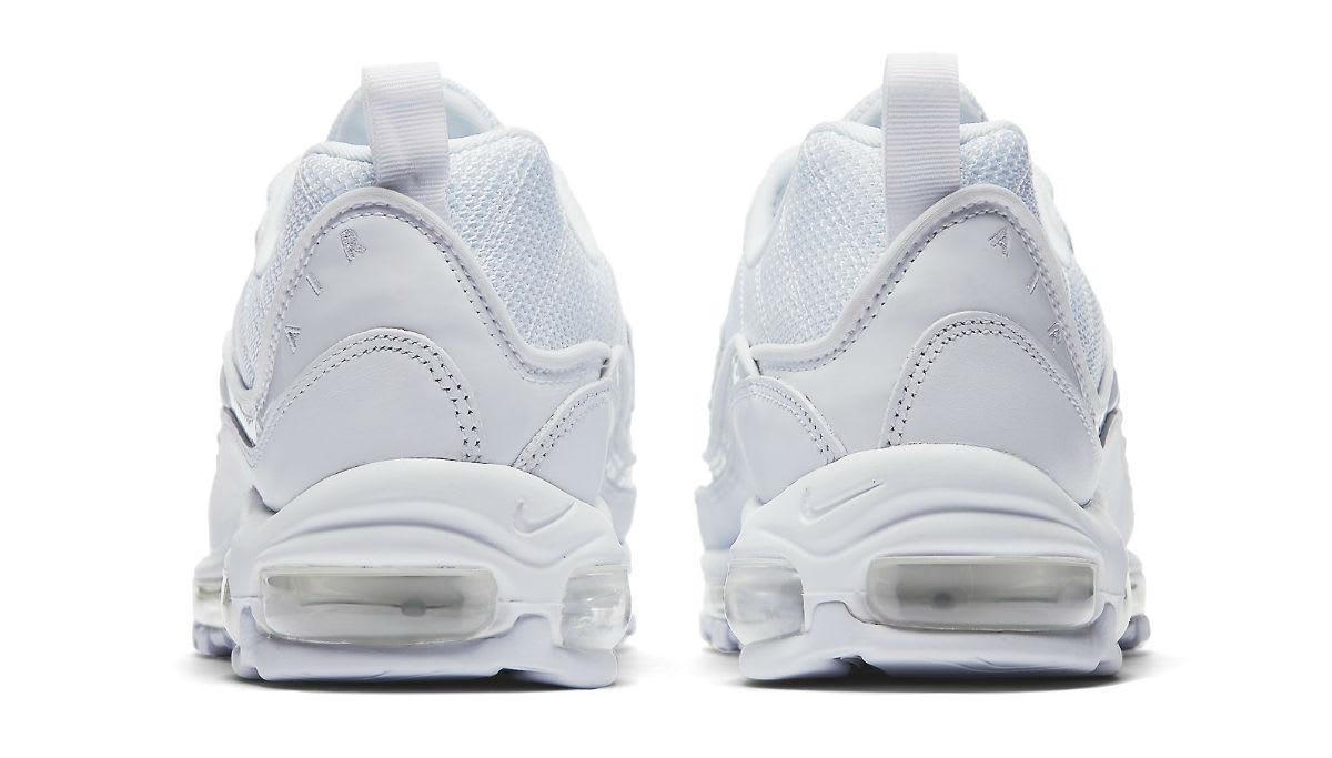 Nike Air Max 98 White Pure Platinum Release Date 640744-106 Heel