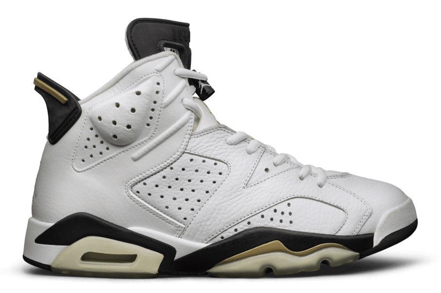 Air Jordan 6 White Black Gold Sample