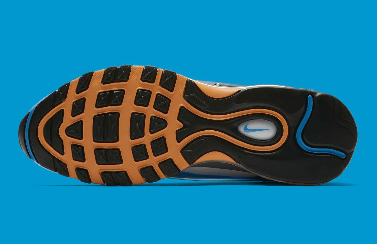 Nike Air Max Deluxe Photo Blue Wolf Grey Orange Peel Black Release Date AJ7831-401 Sole