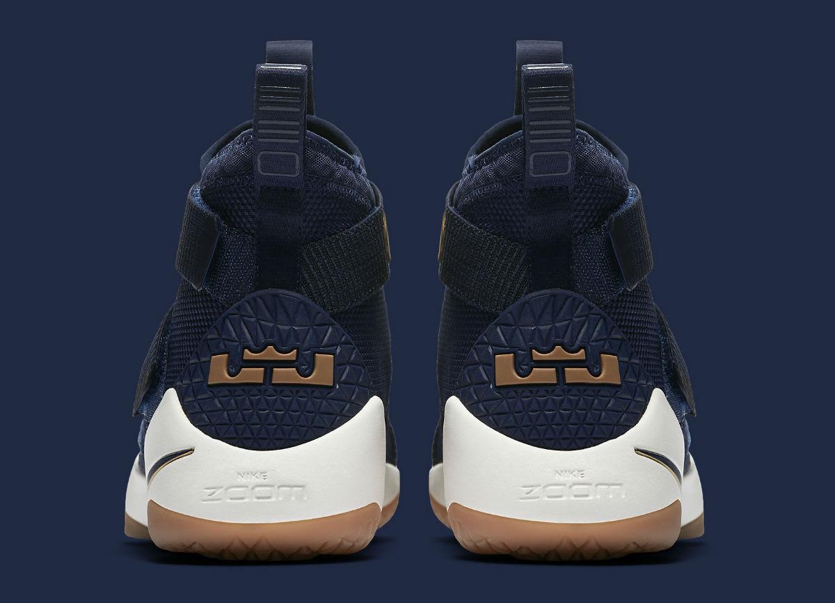 Nike LeBron Soldier 11 Cavs Navy Release Date Heel 897644-402